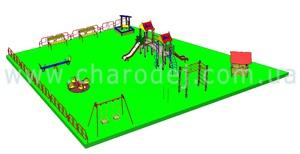 Проект детской площадки - 3 (225 м.кв.)