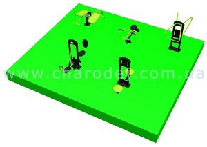Проект спортивной площадки - 11 (42 м.кв.)