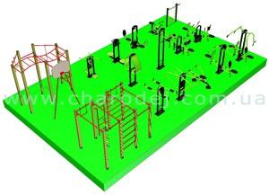 Проект спортивной площадки -14 (104 м.кв.)