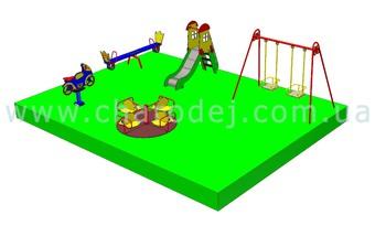 Проект детской площадки - 4 (48 м.кв.)