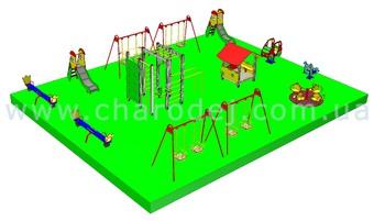 Проект детской площадки - 6 (154 м.кв.)