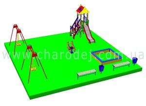 Проект детской площадки - 1 (81 м.кв.)