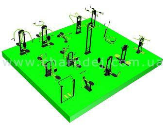 Проект спортивной площадки - 13 (72 м.кв.)