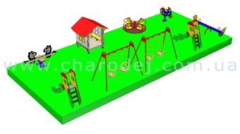 Проект детской площадки - 5 (84 м.кв.)